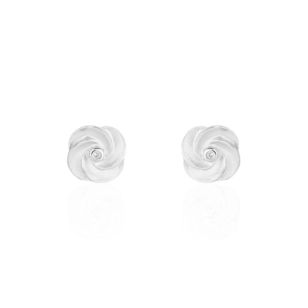 Damen Ohrstecker Silber 925 Diamant 0,01ct  - Ohrstecker Damen   Oro Vivo