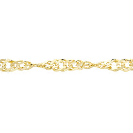Damen Singapurkette Gold 375 42cm - Ketten ohne Anhänger Damen | Oro Vivo