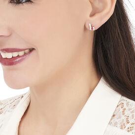 Damen Ohrstecker Gold 375 Rubin Diamant  - Schmuck Damen | Oro Vivo