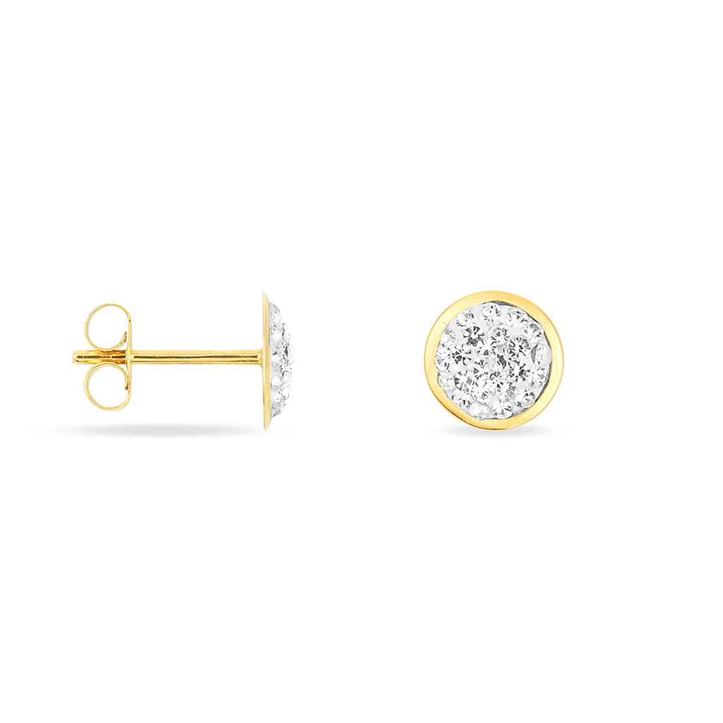 Damen Ohrstecker Gold 375 Kristall  - Ohrstecker Damen | Oro Vivo