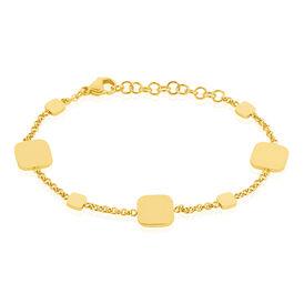 Damenarmband Edelstahl Vergoldet Viereck - Armbänder Damen   Oro Vivo