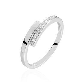 Damenring Weißgold 375 Diamant 0,07ct - Ringe mit Edelsteinen  | Oro Vivo