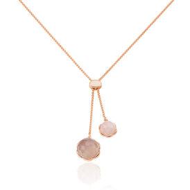 Damen Halskette Silber 925 Rosé Vergoldet Achat - Ketten mit Anhänger Damen   Oro Vivo
