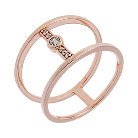 Damenring Vergoldet Roségold Zirkonia  - Ringe mit Stein Damen   Oro Vivo