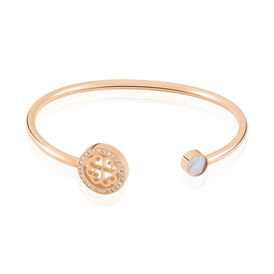 Damenarmband Edelstahl Rosé Vergoldet Kristal - Armreifen Damen | Oro Vivo