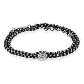 Herrenarmband Edelstahl Geschwärzt Ruder - Armbänder  | Oro Vivo