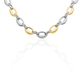 Damen Collier Edelstahl Bicolor  - Ketten ohne Stein  | Oro Vivo