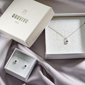Damen Halskette Weißgold 375 Saphir Diamanten - Ketten mit Anhänger Damen | Oro Vivo