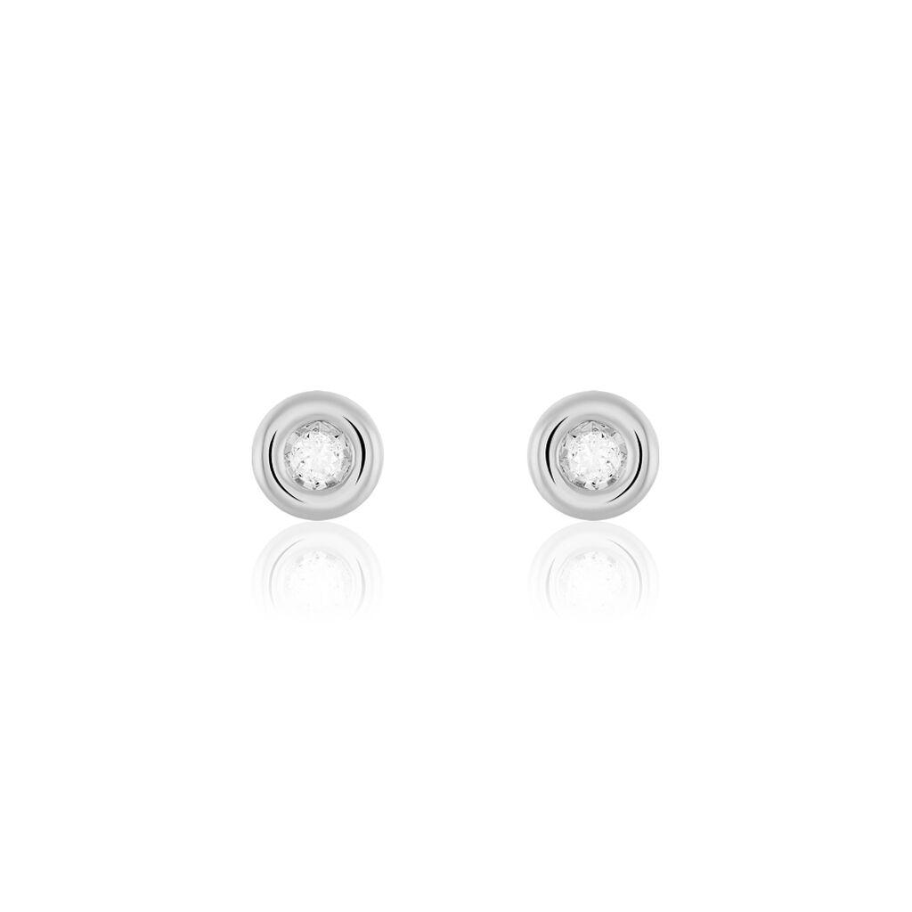 Damen Ohrstecker Weißgold 375 Diamant 0,052ct  - Ohrstecker Damen | Oro Vivo