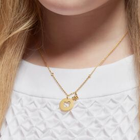 Kinder Halskette Silber 925 Vergoldet Zirkonia - Ketten mit Anhänger Kinder   Oro Vivo