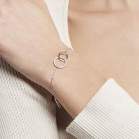 Damenarmband Silber 925 Zirkonia Kreis - Armbänder  | Oro Vivo