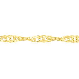 Damen Singapurkette Gold 375 42cm - Ketten ohne Anhänger Damen   Oro Vivo