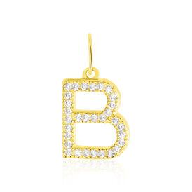 Anhänger Gold 375 Zirkonia Buchstabe B - Personalisierte Geschenke Damen | Oro Vivo