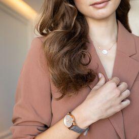 Damen Halskette Silber 925 Rosé Vergoldet - Ketten mit Anhänger    Oro Vivo