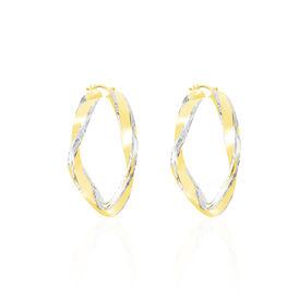 Damen Creolen Gold 375 Bicolor 35mm - Creolen Damen | Oro Vivo