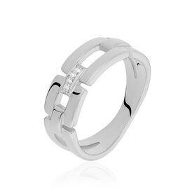 Damenring Silber 925 Diamant 0,016ct - Ringe mit Edelsteinen Damen   Oro Vivo