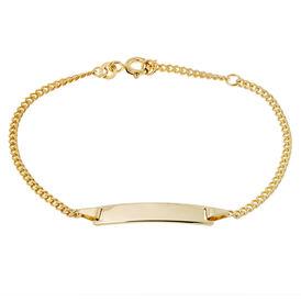 Kinder Id Armband Panzerkette Gold 333 Gravierbar -  Kinder | Oro Vivo