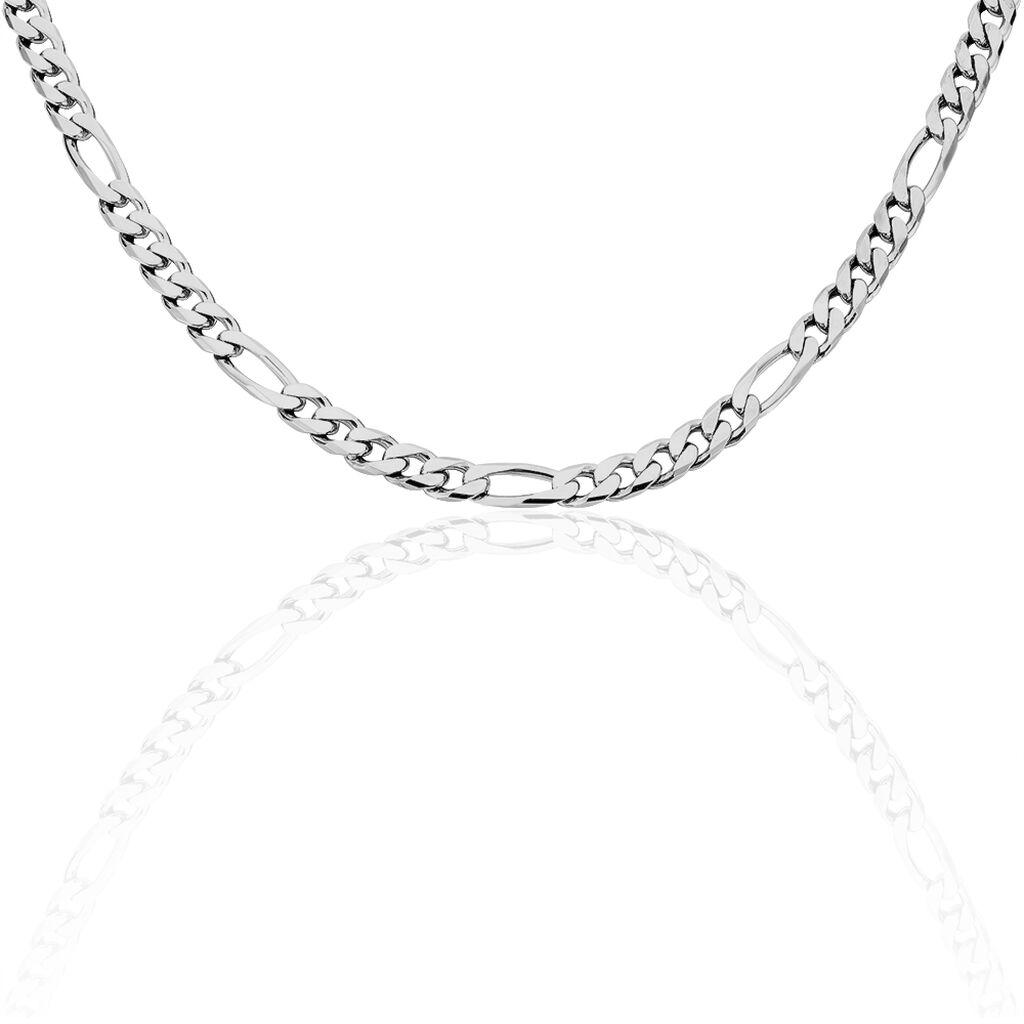 Unisex Figarokette Silber 925 50cm - Ketten ohne Anhänger Unisex   Oro Vivo