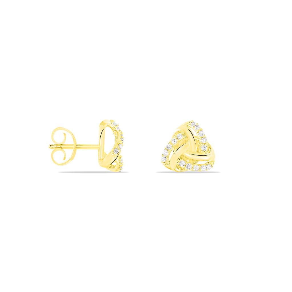 Damen Ohrstecker Gold 375 Diamant 0,15ct  - Ohrstecker Damen | Oro Vivo