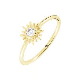 Damenring Silber 925 Vergoldet Zirkonia - Ringe mit Stein Familie | Oro Vivo
