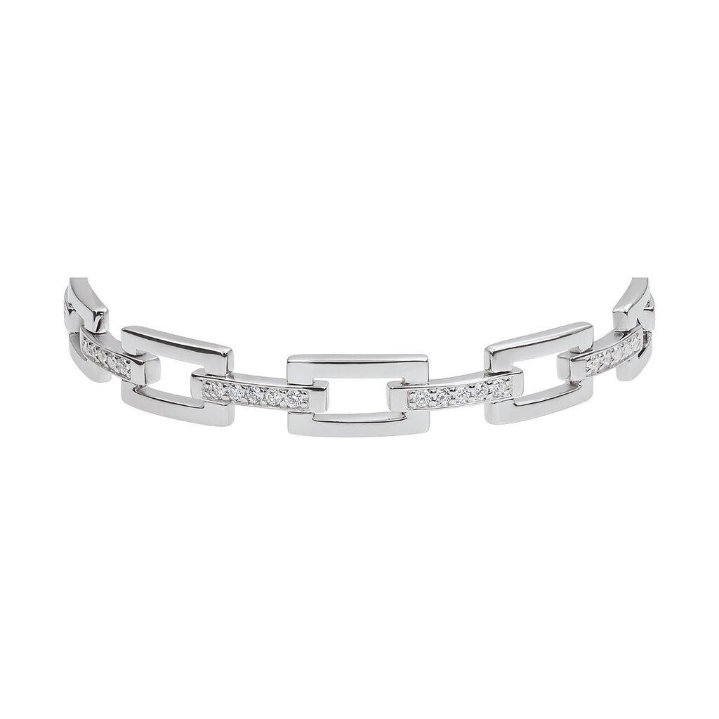 Damenarmband Silber 925 Zirkonia Viereck - Armbänder Damen | Oro Vivo
