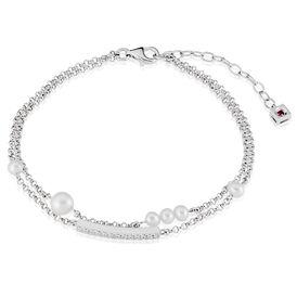 Damenarmband Erbskette Silber 925 Zuchtperle -  Damen | Oro Vivo