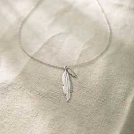 Damen Halskette Silber 925 Rhodiniert - Ketten mit Anhänger Damen | Oro Vivo
