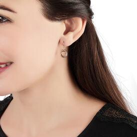 Damen Ohrhänger Lang Gold 375 Tricolor Kreis - Ohrhänger Damen   Oro Vivo