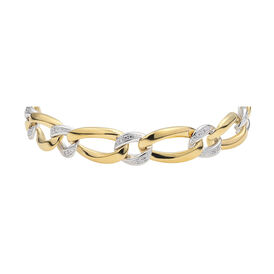 Damenarmband Vergoldet Bicolor Zirkonia - Armbänder Damen   Oro Vivo