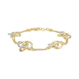 Damenarmband Vergoldet Bicolor Welle - Armbänder  | Oro Vivo