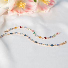 Damenarmband Vergoldet Blauer Synthetischer Stein  - Armbänder  | Oro Vivo
