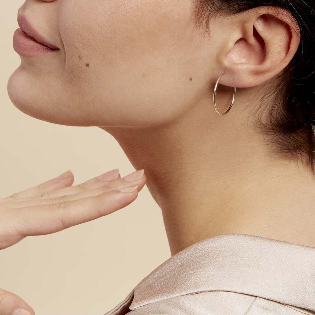 Damen Creolen Gold 375 25mm - Creolen Damen   Oro Vivo