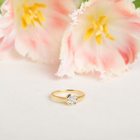 Damenring Gold 750 Diamanten 0,07ct - Ringe mit Edelsteinen  | Oro Vivo
