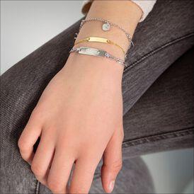 Kinder Id Armband Figarokette Gold 375 Gravierbar - ID-Armbänder  | Oro Vivo