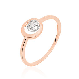 Damenring Roségold 585 Diamanten 0,05ct - Black Friday Damen | Oro Vivo