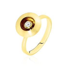 Solitärring Gold 375 Diamant 0,09ct Heiko Schrem - Ringe mit Edelsteinen  | Oro Vivo