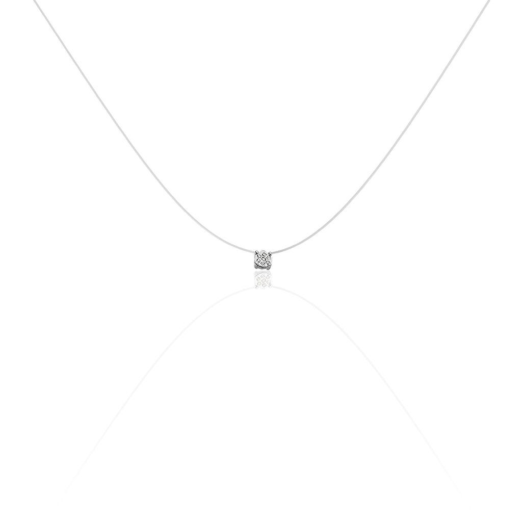 Damen Halskette Weißgold 375 Diamant 0,029ct Herz - Herzketten Damen | Oro Vivo