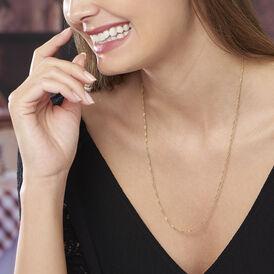 Damen Singapurkette Gold 375 55cm - Ketten ohne Anhänger Damen   Oro Vivo