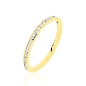 Damenring Gold 585 Diamanten 0,11ct - Eheringe Damen | Oro Vivo