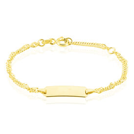 Kinder Id Singapurkette Armband Gold 375  - ID-Armbänder Kinder | Oro Vivo