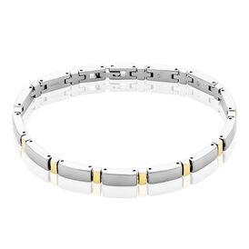 Boccia Damenarmband Titan Vergoldet Bicolor - Armketten Damen   Oro Vivo
