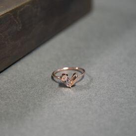 Damenring Roségold 375 Morganit Herz - Ringe mit Stein Damen | Oro Vivo