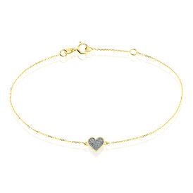 Damenarmband Gold 375 Herz -  Damen | Oro Vivo