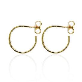 Damen Steckcreolen Silber 925 Vergoldet  - Creolen Damen   Oro Vivo