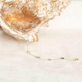 Damenarmband Gold 750 Diamanten 0,4ct Bicolor  - Armbänder Damen | Oro Vivo