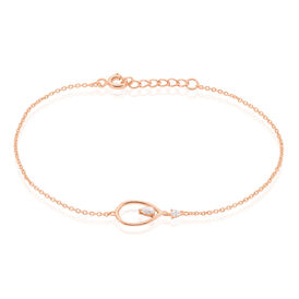 Damenarmband Silber 925 Rosé Vergoldet Zirkonia -  Damen | Oro Vivo