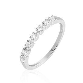 Damenring Weißgold 750 Diamanten 0,182ct  - Eheringe Damen | Oro Vivo