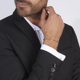Herrenarmband Stegpanzerkette Gold 375 Bicolor  - Armketten Herren | Oro Vivo