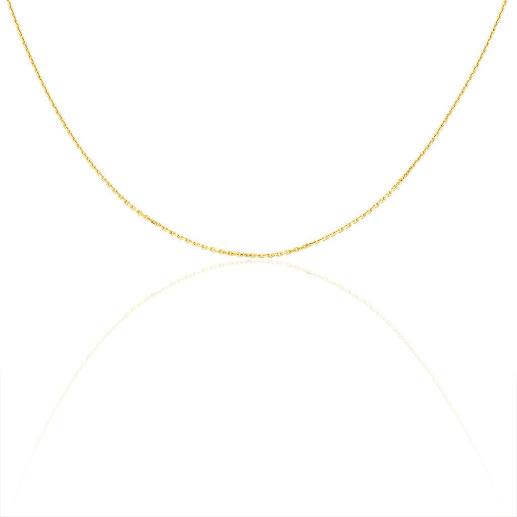 Damen Ankerkette Gold 585 Diamantiert 42cm - Ketten ohne Anhänger Damen   Oro Vivo
