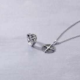 Herren Halskette Silber 925 Kompass - Ketten mit Anhänger Herren   Oro Vivo